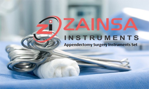 Appendectomy Surgery Instruments Set