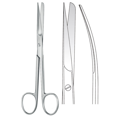 Deaver Scissors pointed/blunt Curved - Zainsa Instruments