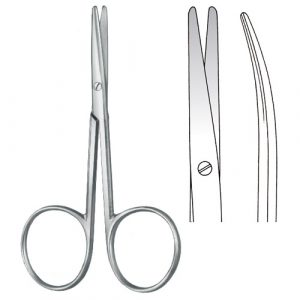 Lexer-Baby Dissecting Scissors Curved - Zainsa Instruments