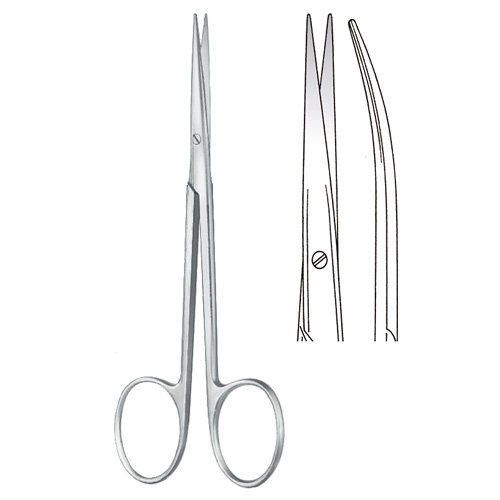 Delicate Scissors blunt/blunt Curved 11.5 cm - Zainsa Instruments