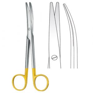 TC Mayo-Lexer Scissors Curved - Zainsa Instruments